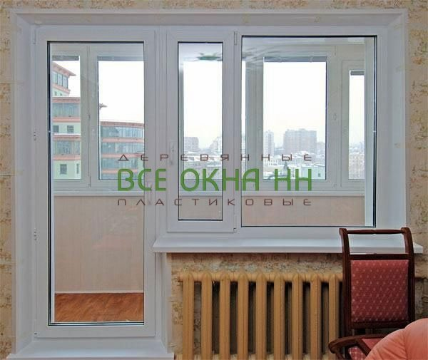 Установка балконного окна с дверью видео.